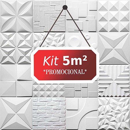 Kit 5m² Revestimento 3D Rustico