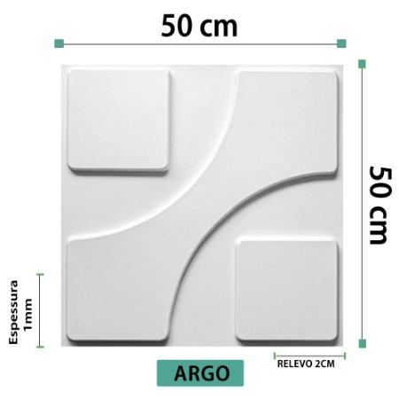 Placa decorativa 3D Poliestireno Argo