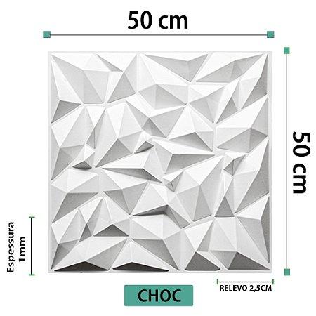 Placa decorativas 3D Poliestireno Choc
