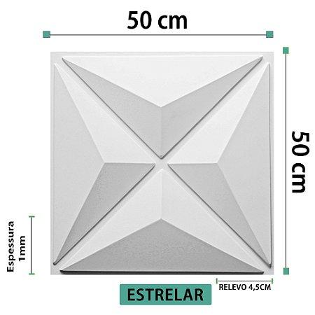 Placa decorativas 3D Poliestireno Estrelar