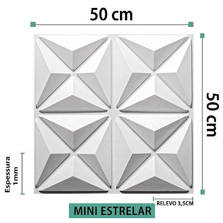 Placa decorativas 3D Poliestireno Mini Estrelar