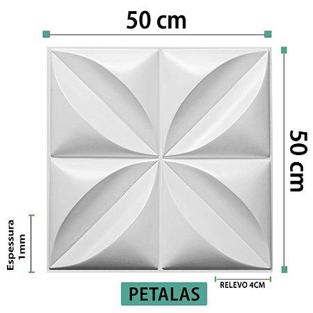 Placa decorativas 3D Poliestireno Pétalas