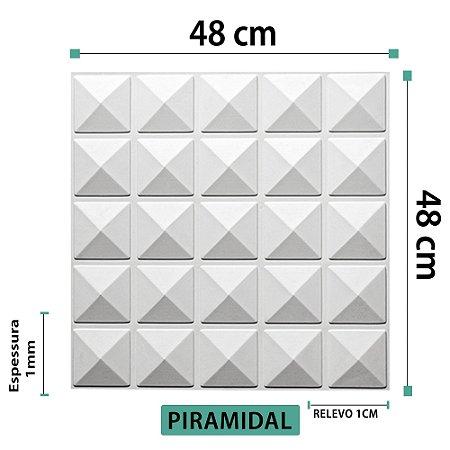 Placa decorativas 3D Poliestireno Piramidal