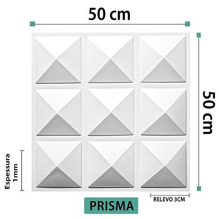 Placa decorativas 3D Poliestireno Prisma