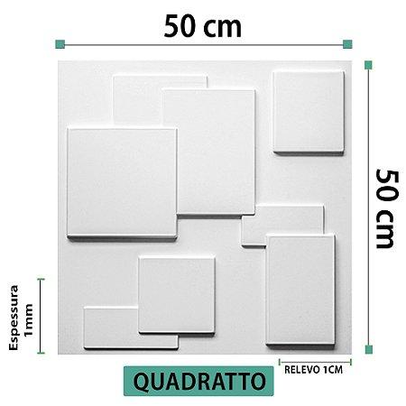 Placa decorativas 3D Poliestireno Quadratto