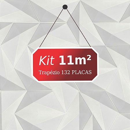 Kit 11m² Placas de Revestimento 3D Trapézio