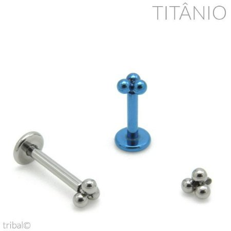 Labret Micro Trinity Titânio