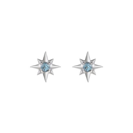 STUD MINI WIND ROSE OURO BRANCO LATITUDE JEWELRY