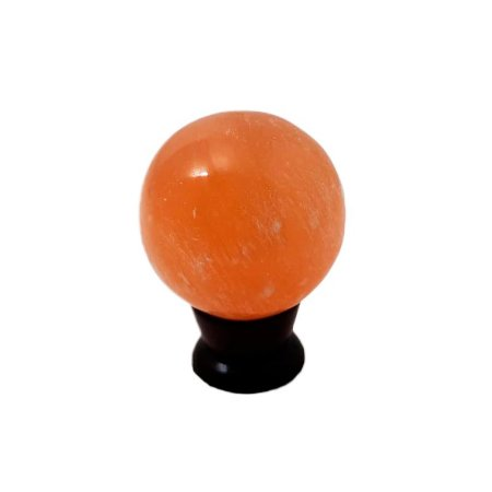 Esfera em Selenita Laranja *qualidade extra* 226gr