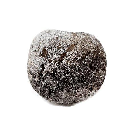 Quartzo Negro Bruto com 1 face polida 307gr