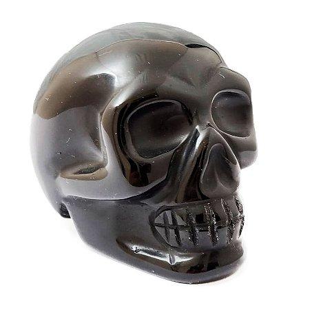 Crânio em Obsidiana Negra 185gr