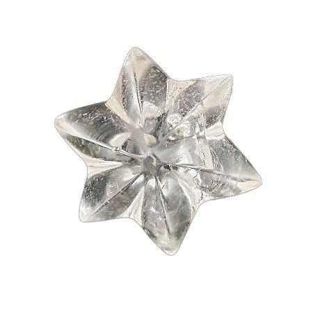 Flor em quartzo transparente 60gr