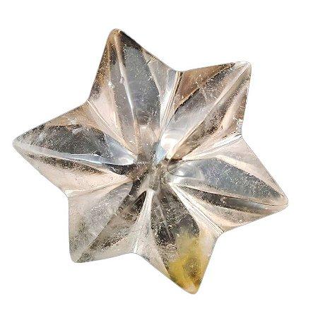 Flor em quartzo transparente (peça única)