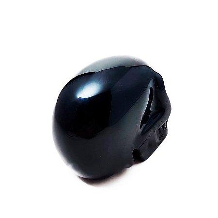 Crânio em Obsidiana Negra 412gr