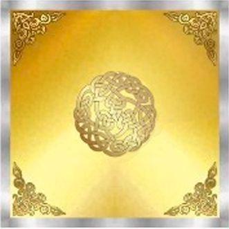 Toalha Mandala Celta - Dourada