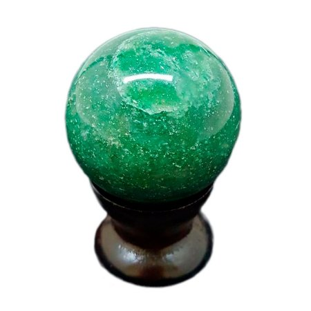 Esfera em Quartzo Verde 142G A 200G