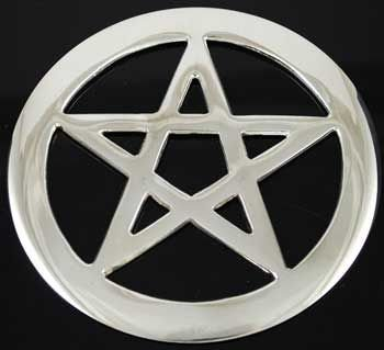 Pentagrama de Altar (banhado à Prata) importado