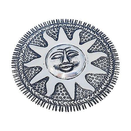 Incensário Tibetano Sol (banhado à Prata)