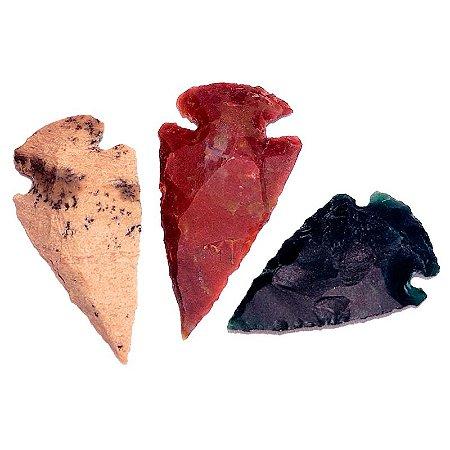 Ponta de Flecha em jaspe (cores variadas)