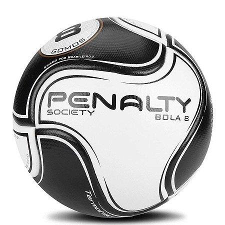 Bola Penalty Society Bola 8 Cinza e Preto