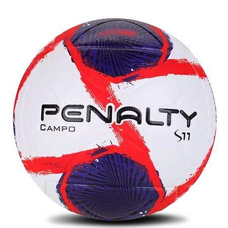 Bola Penalty Campo S11 Branco Roxo & Vermelho