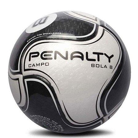 Bola Penalty Campo Bola 8 Cinza & Preto