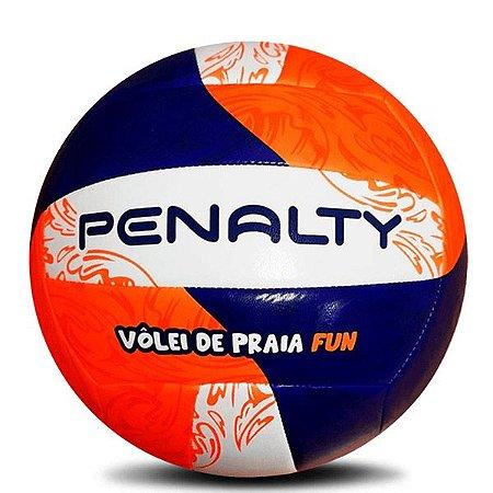 Bola de Vôlei Penalty Oficial Vôlei de Praia Fun Branco Laranja & Azul