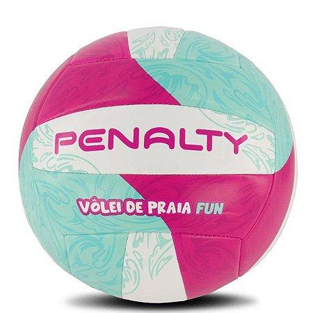 Bola de Vôlei Penalty Oficial Vôlei de Praia Fun Branco Verde & Rosa