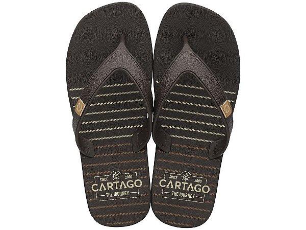 Chinelo Cartago The Journey 10738 37/44  Caixa Com 12 Pares