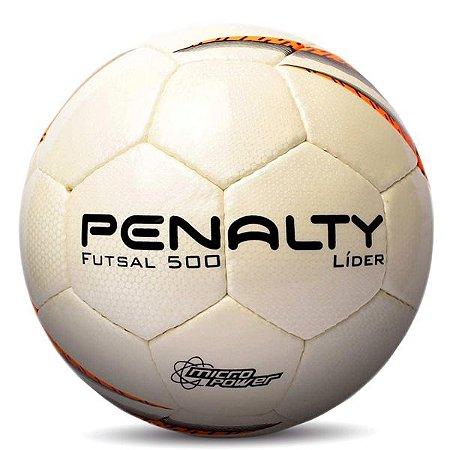 Bola de Futsal Penalty Líder X Branco e Laranja
