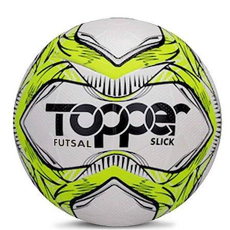 Bola Topper Slick Futsal 5167 Amarelo Neon e Preto