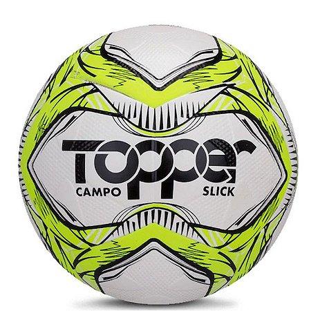 Bola Topper Slick Campo 5161 Amarelo Neon e Preto