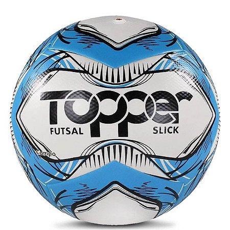 Bola Topper Slick Futsal 5165 Azul e Preto