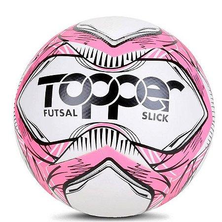 Bola Topper Slick Futsal 5166 Rosa Neon e Preto