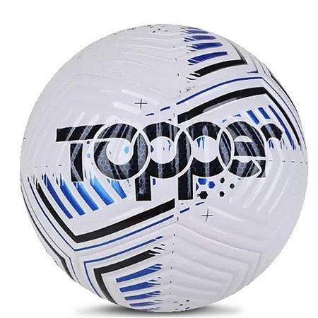Bola Topper Society Hawk 7002 Branco Azul e Preto