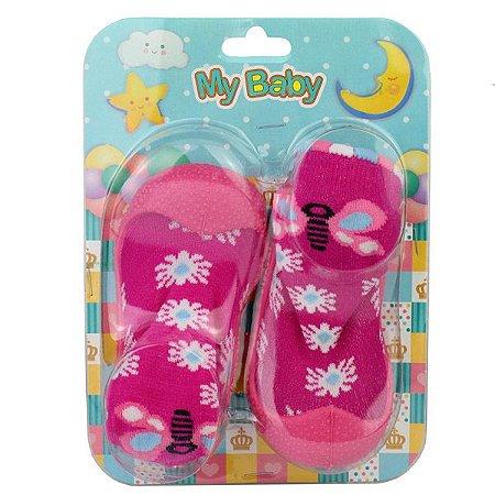 Sapato com Meia My Baby 8003.007 18/22 Caixa Com 12 Pares