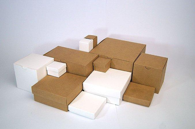 Caixa branca sem impressão