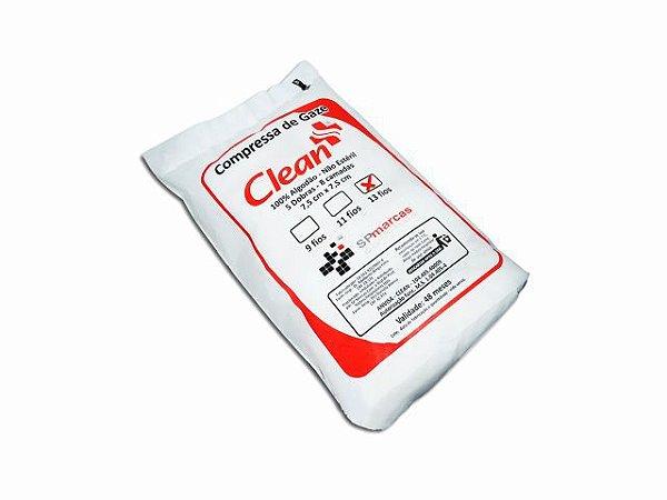 Compressa de Gaze - Não Estéril - 13 Fios - 260g - Clean