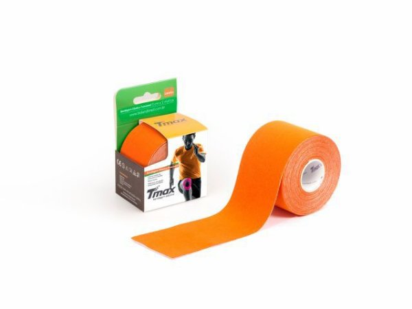 Bandagem Neuromuscular Elástica Adesiva - 500x5cm - TMAX laranja