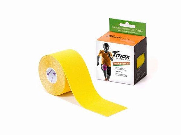 Bandagem Neuromuscular Elástica Adesiva - 500x5cm - TMAX amarelo