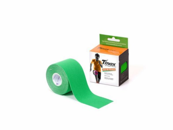 Bandagem Neuromuscular Elástica Adesiva - 500x5cm - TMAX verde