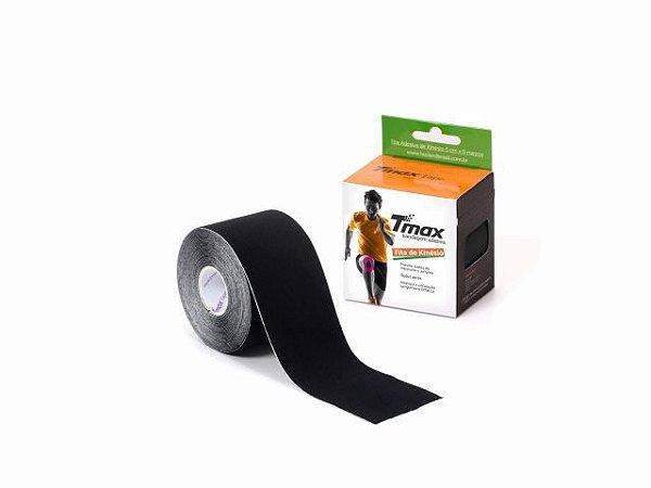 Bandagem Neuromuscular Elástica Adesiva - 500x5cm - TMAX preto