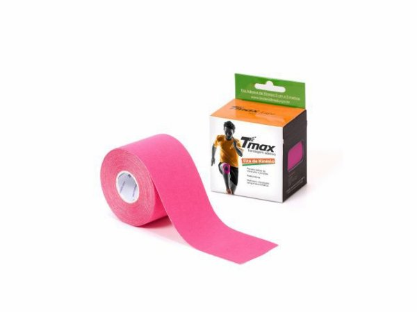 Bandagem Neuromuscular Elástica Adesiva - 500x5cm - TMAX rosa
