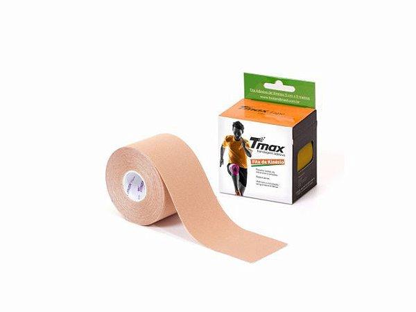Bandagem Neuromuscular Elástica Adesiva - 500x5cm - TMAX bege
