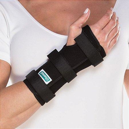 Tala Para Punho Curta - com Dedos Livres Bilateral - Preta - 01un - Chantal tamanho GG