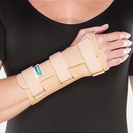 Tala Para Punho Curta - Dedos Livres - Bilateral - Bege - 01un - Chantal tamanho P