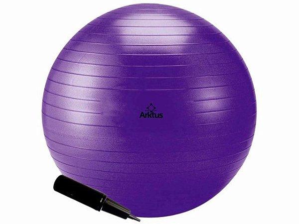 Bola Suíça para Pilates com Bomba de Ar - Anti-Burst - Arktus 65 cm