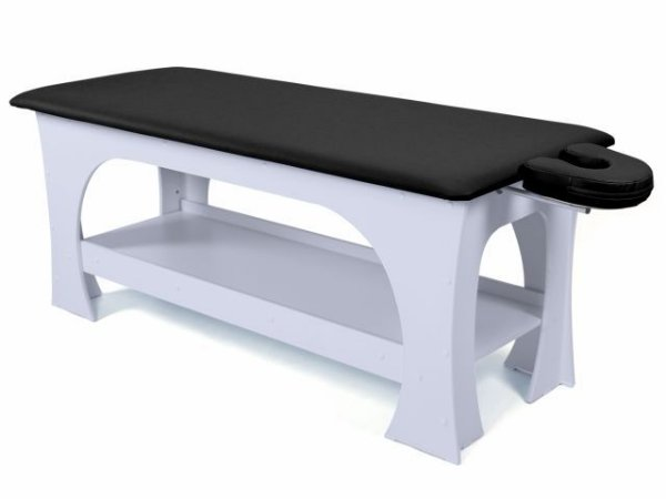 Maca de Massagem Bella - Fixa - 80cm de Largura - Base Branca - Arktus preto