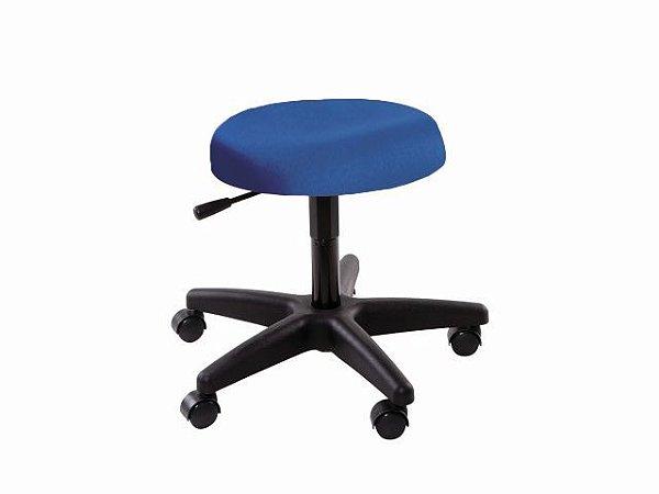 Cadeira Mocho - Sem Encosto - Base Preta - Arktus azul claro