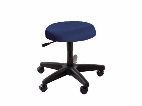 Cadeira Mocho - Sem Encosto - Base Preta - Arktus azul escuro